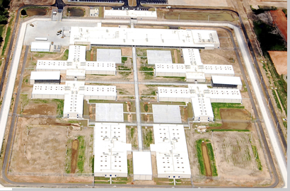 Aerial view of Blackwater River Correctional Facility